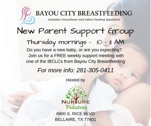 New parent support group at nurture pediatrics