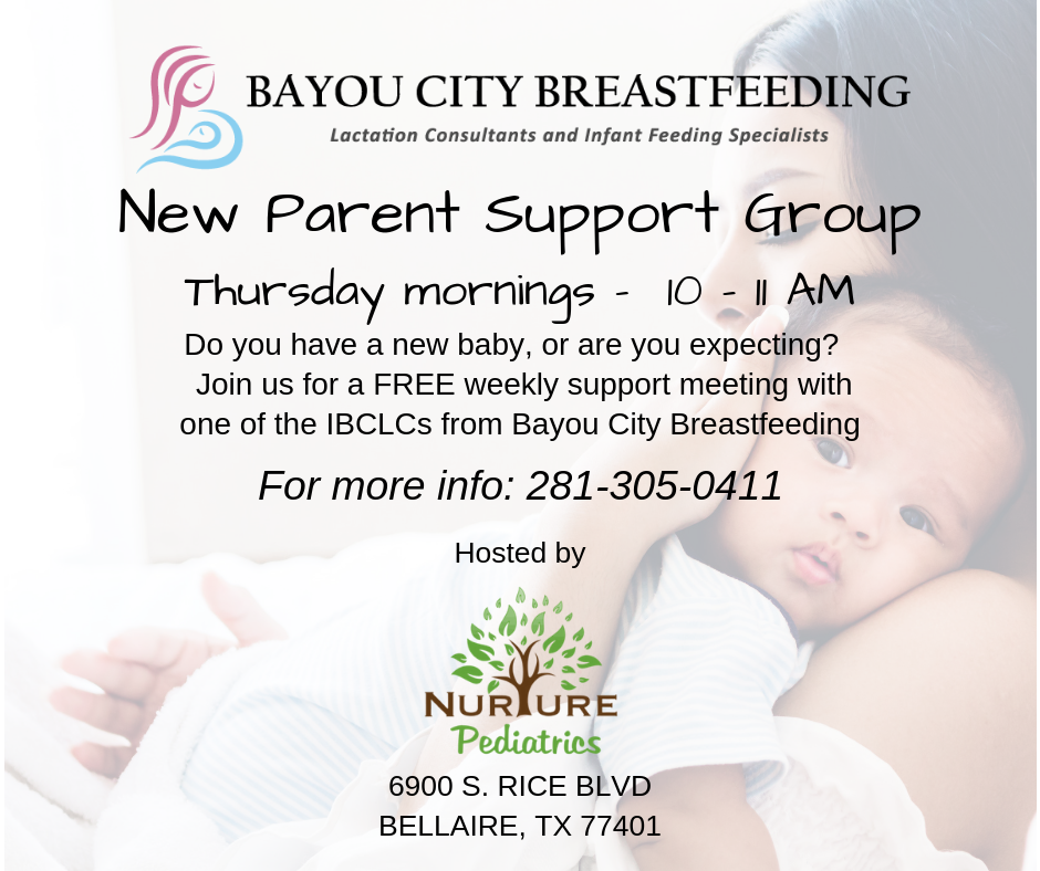 New parent support group at nurture pediatrics