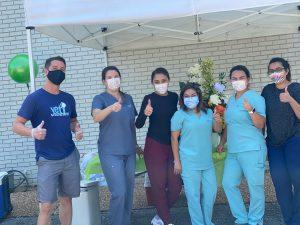 Flu Clinic Thumps Up
